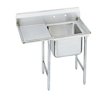 """Advance Tabco 9-1-24-24L One Compartment Sink with Left Drainboard, 46"""""""