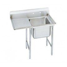Advance Tabco 9-1-24-24L One Compartment Sink with Left Drainboard, 46""
