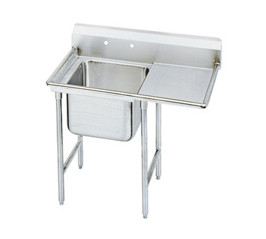 """Advance Tabco 9-1-24-24R One Compartment Sink with Right Drainboard, 46"""""""