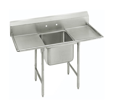 """Advance Tabco 9-21-20-18RL One Compartment Sink with Two Drainboards, 58"""""""