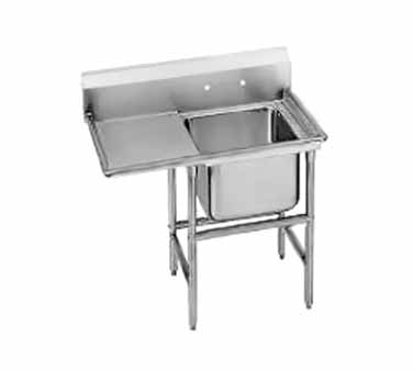 Advance Tabco 9-41-24-24L One Compartment Sink with Left Drainboard, 54""