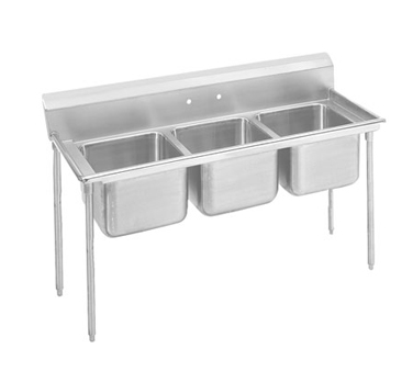 Advance Tabco 9-43-72 Regaline Three Compartment Sink, 86""