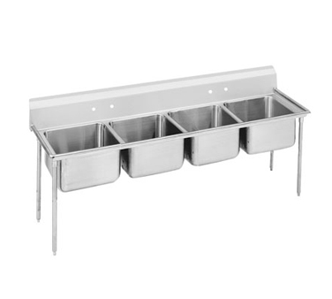 Advance Tabco 9-44-96 Regaline Four Compartment Sink, 113""