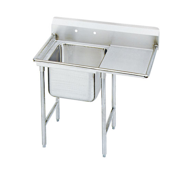 Advance Tabco 9-61-18-18R One Compartment Sink with Right Drainboard, 42""