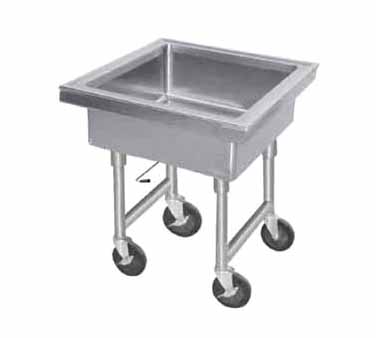 "Advance Tabco 9-FMS-20 Mobile Soak Sink, 22"" x 22"" x 8"""