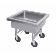 "Advance Tabco 9-FSS-20 Mobile Soak Sink, 22"" x 22"" x 8"""
