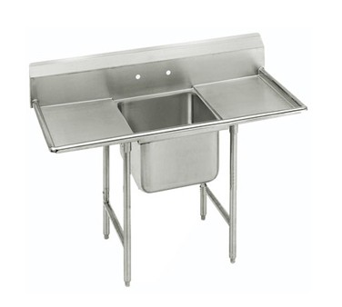 """Advance Tabco 93-1-24-18RL One Compartment Sink with Two Drainboards, 54"""""""