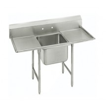 Advance Tabco 93-1-24-24RL One Compartment Sink with Two Drainboards, 66""
