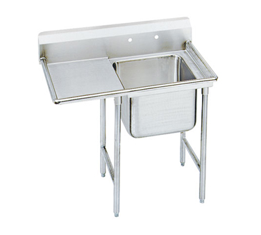 Advance Tabco 93-1-24-36L One Compartment Sink with Left Drainboard, 58""