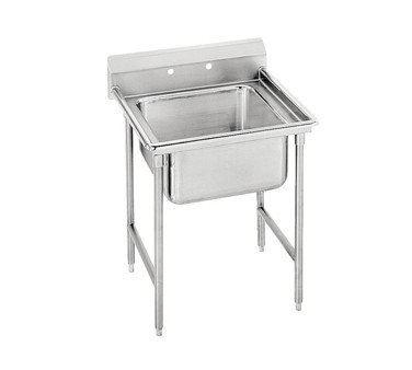 """Advance Tabco 93-41-24 One Compartment Sink, 33"""""""