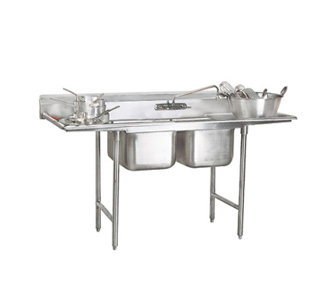 """Advance Tabco 93-42-48-36RL Two Compartment Sink with Two Drainboards, 125"""""""