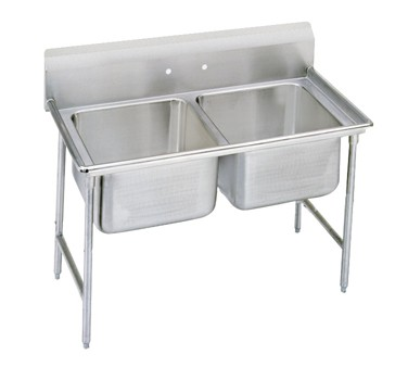 """Advance Tabco 93-62-36 Regaline Two Compartment Sink, 48"""""""