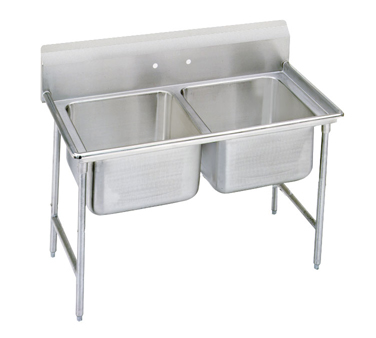 Advance Tabco 93-82-40 Regaline Two Compartment Sink, 52""