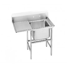 Advance Tabco 94-1-24-24L One Compartment Sink with Left Drainboard, 46""