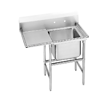 Advance Tabco 94-1-24-36L One Compartment Sink with Left Drainboard, 58""