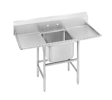 Advance Tabco 94-1-24-36RL One Compartment Sink with Two Drainboards, 90""