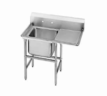 Advance Tabco 94-21-20-24R One Compartment Sink with Right Drainboard, 50""