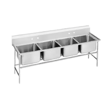 Advance Tabco 94-24-80 Regaline Four Compartment Sink, 97""