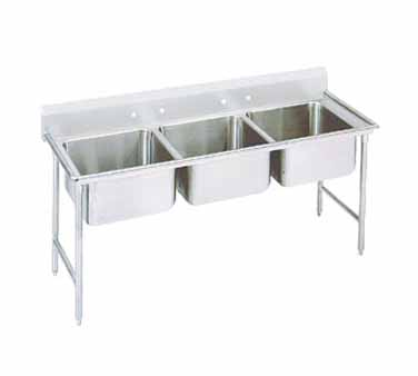 Advance Tabco 94-3-54 Regaline Three Compartment Sink, 62""
