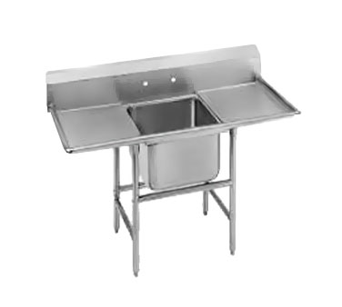 Advance Tabco 94-61-18-18RL One Compartment Sink with Two Drainboards, 56""