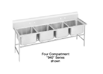Advance Tabco 94-64-72 Regaline Four Compartment Sink, 89""