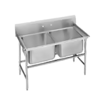"""Advance Tabco 94-82-40 Regaline Two Compartment Sink, 52"""""""