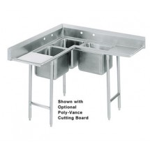 Advance-Tabco-94-K3-11D-Three-Compartment-Corner-Sink-with-Two-Drainboards--108-quot-