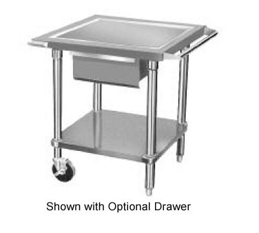 "Advance Tabco AG-MP-30 Mobile Stainless Steel Mixer Table with Galvanized Undershelf 24"" x 30"""