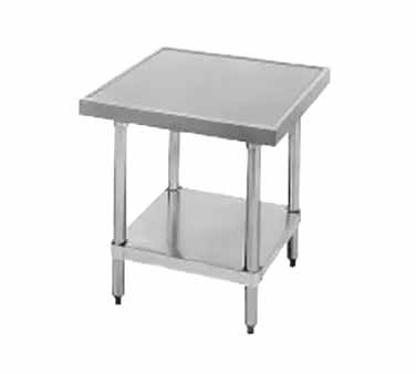 "Advance Tabco AG-MT-242 Stainless Steel Mixer Table with Galvanized Undershelf 24"" x 24"""