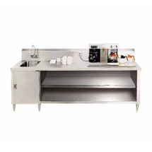 Advance Tabco BEV-30-108L Beverage Table with Sink on Left - 108""