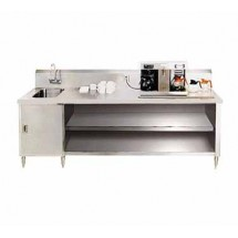 Advance Tabco BEV-30-144L Beverage Table with Sink on Left - 144""