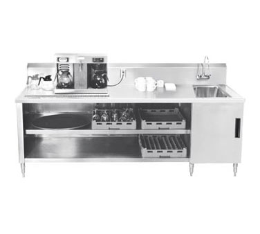 Advance Tabco BEV-30-144R Beverage Table with Sink on Right - 144""