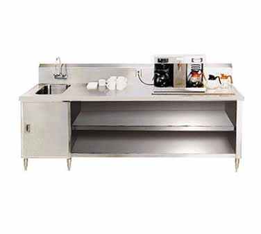 """Advance Tabco BEV-30-96L Beverage Table With Left Hand Sink - 96"""""""