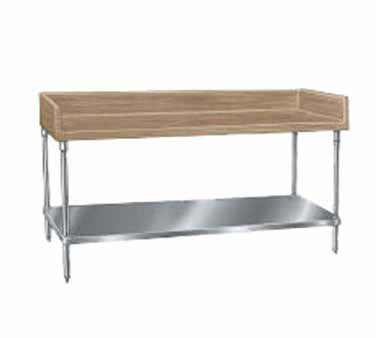"Advance Tabco BG-368 Wood Top Baker's Table with Galvanized Undershelf - 36"" x 96"""
