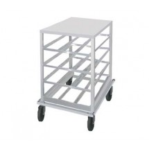 Advance Tabco CR10-54 Half Size Mobile Aluminum Can Storage Rack