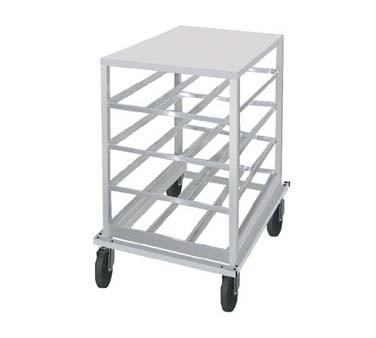 Advance Tabco CR10-72 Half Size Aluminum Mobile Can Storage Rack