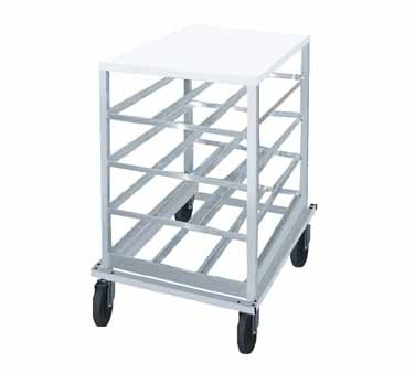 Advance Tabco CRPL10-54 Half Size Mobile Can Storage Rack with Poly Top