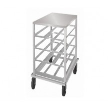 Advance Tabco CRSS10-54 Half Size Mobile Can Storage Rack with Stainless Steel Top