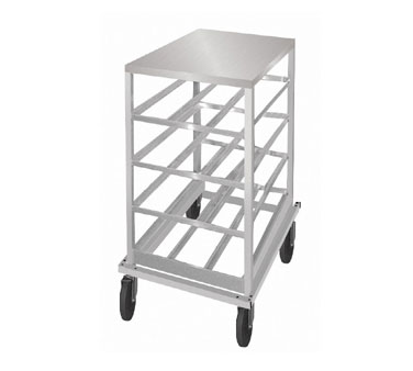 Advance Tabco CRSS10-72 Half Size Mobile Can Storage Rack with Stainless Steel Top
