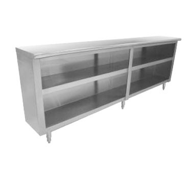 "Advance Tabco DC-158 Stainless Steel Dish Cabinet, 96"" x 15"""