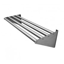 "Advance Tabco DT-6R-48 Wall Mounted Tubular Rack Shelf, 15"" x 48"""