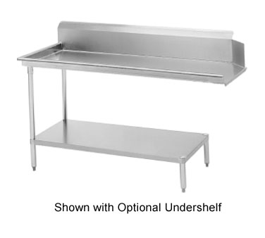 """Advance Tabco DTC-S60-84L 83"""" Left to Right Straight Clean Dishtable"""