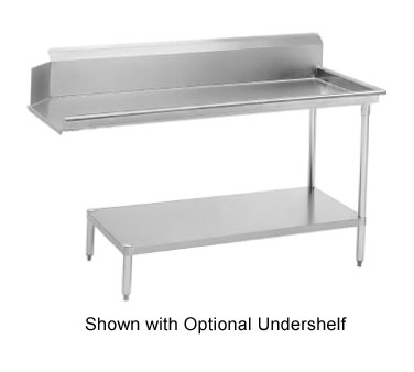 """Advance Tabco DTC-S60-84R 83"""" Right to Left Straight Clean Dishtable"""
