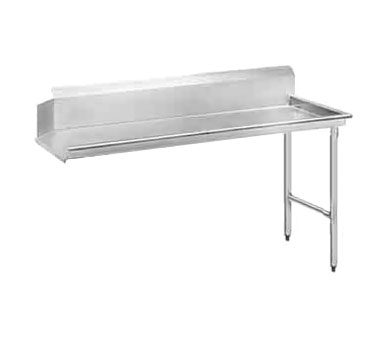 """Advance Tabco DTC-S70-72R 71"""" Right to Left Straight Clean Dishtable"""