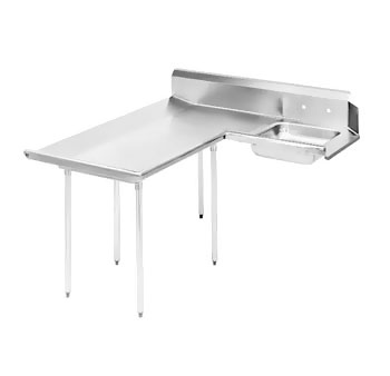 "Advance Tabco DTS-D60-120L 119"" Left to Right Dishlanding-Soil Dishtable"