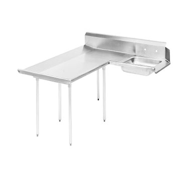 "Advance Tabco DTS-D70-108L 107"" Left to Right Dishlanding-Soil Dishtable"