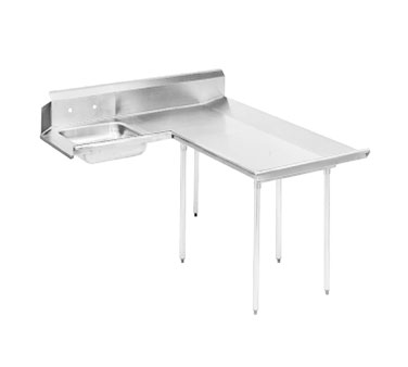 "Advance Tabco DTS-D70-48R 47"" Right to Left Dishlanding Soil Dishtable. L-Shaped"