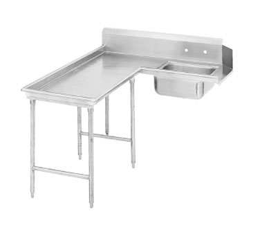 "Advance Tabco DTS-G70-108L 107"" Island Soil Dishtable"