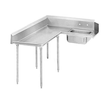 "Advance Tabco DTS-K60-144L 143"" Korner Soil Dishtable"