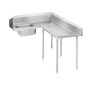 "Advance Tabco DTS-K60-144R 143"" Korner Soil Dishtable"